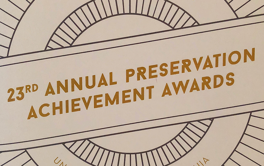 Jun 2016: Preservation Achievement Award